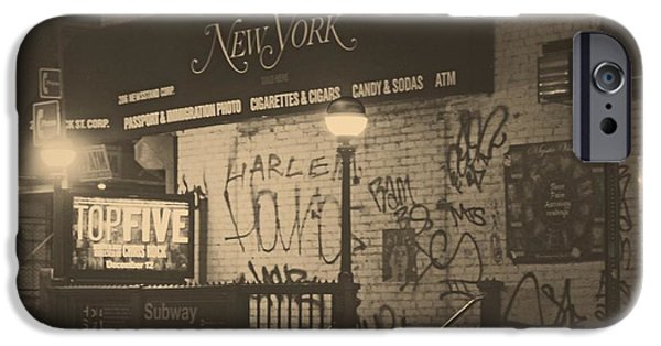 Harlem iPhone Cases - Night in Harlem iPhone Case by Chelsea Yarger