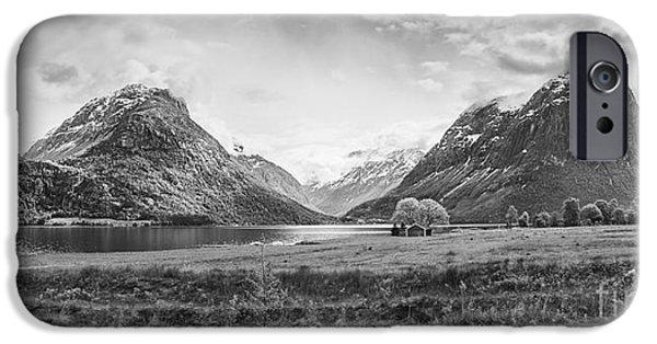 Norwegian Sunset iPhone Cases - Norwegian Fjord iPhone Case by Shaun Wilkinson