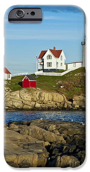 Nubble Lighthouse iPhone Cases - Nubble Light iPhone Case by John Greim
