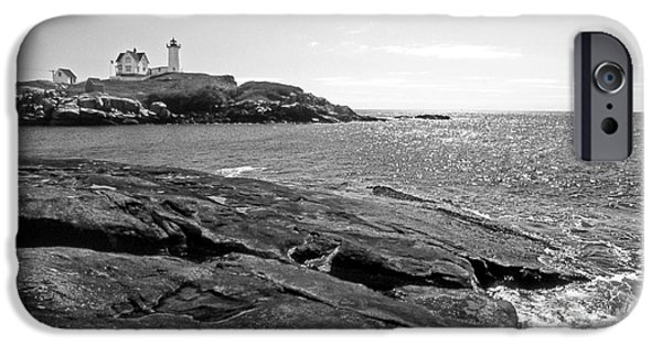 Nubble Lighthouse iPhone Cases - Nubble Lighthouse iPhone Case by Skip Willits