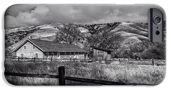 Canyon Country iPhone Cases - Old Barracks at Fort Tejon  iPhone Case by Mountain Dreams