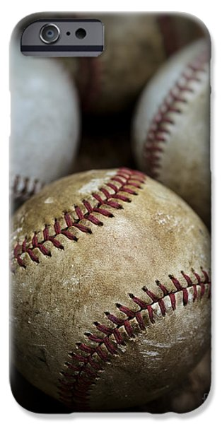 Dirty iPhone Cases - Old Baseball iPhone Case by Edward Fielding