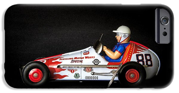 Racing iPhone Cases - Old race car iPhone Case by Rudy Umans