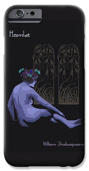 Drama Drawings iPhone Cases - Ophelia Hamlet iPhone Case by Joaquin Abella