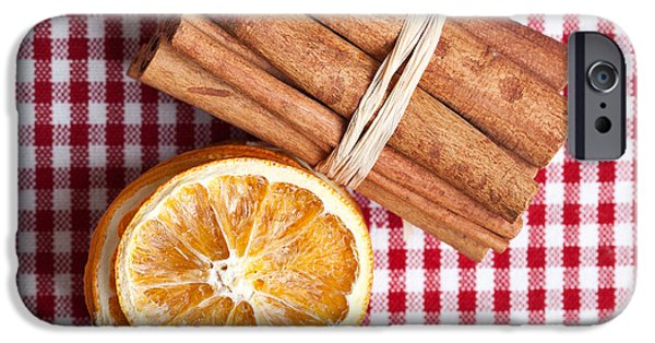 Dried iPhone Cases - Orange and Cinnamon iPhone Case by Nailia Schwarz