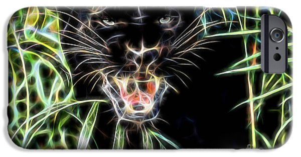 Cat iPhone Cases - Panther Collection iPhone Case by Marvin Blaine