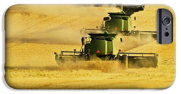 Combine Harvester iPhone Cases - Paplow Harvesting Company Custom iPhone Case by Richard Hamilton Smith