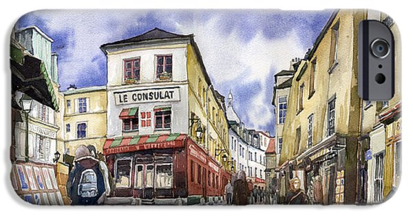 France iPhone Cases - Paris Montmartre  iPhone Case by Yuriy  Shevchuk