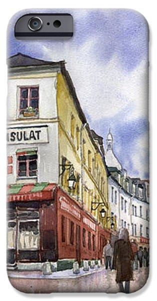 Paris Montmartre  iPhone Case by Yuriy  Shevchuk