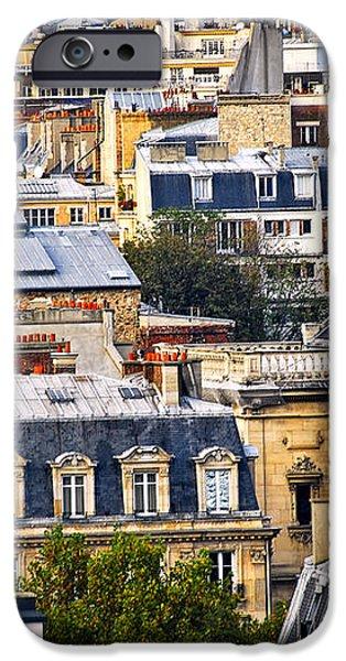 Paris rooftops iPhone Case by Elena Elisseeva