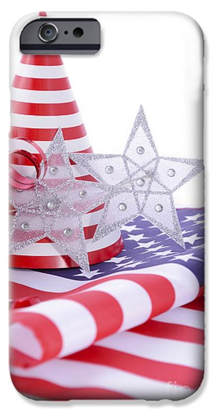 Independance Day Photographs iPhone Cases - Patriotic party decorations for USA Events iPhone Case by Milleflore Images