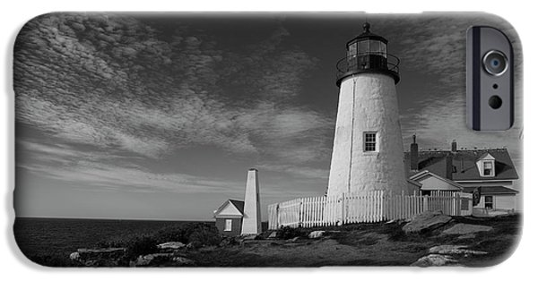 Marine iPhone Cases - Pemaquid Lighthouse iPhone Case by Timothy Johnson