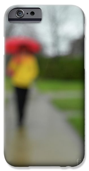 Rainy Day iPhone Cases - People in the Rain iPhone Case by Oleksiy Maksymenko