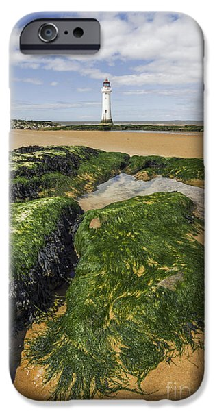 New England Lighthouse iPhone Cases - Perch Rock Lighthouse iPhone Case by Ian Mitchell