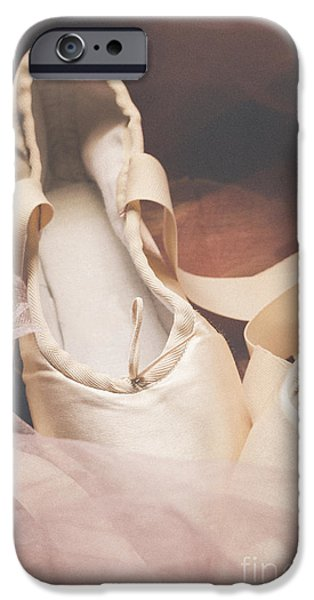 Ballet Dancers iPhone Cases - Pointe Shoes iPhone Case by Jelena Jovanovic