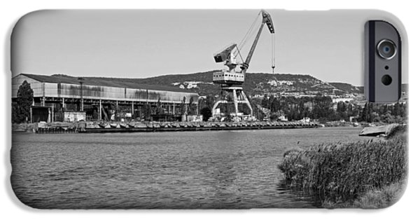 Business Photographs iPhone Cases - Port Crane In Crimea iPhone Case by George Chernilevsky