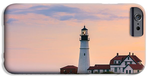 Gulf Of Maine iPhone Cases - Portland Head Light iPhone Case by Henk Meijer Photography