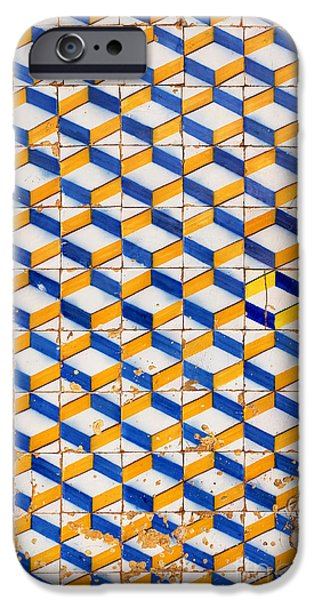 Mosaic iPhone Cases - Portuguese Tiles iPhone Case by Carlos Caetano