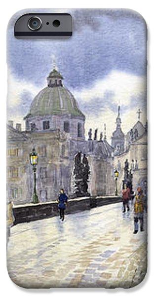 Prague Charles Bridge iPhone Case by Yuriy  Shevchuk