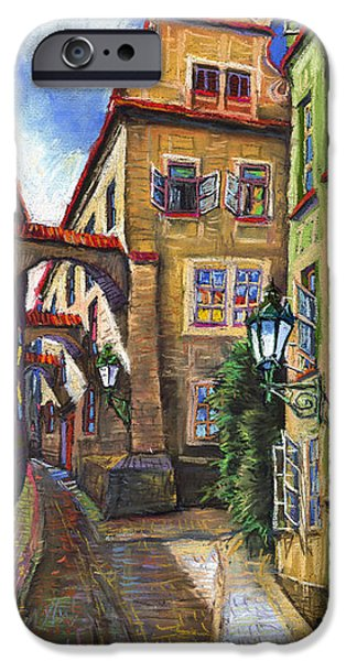 Building iPhone Cases - Prague Old Street iPhone Case by Yuriy  Shevchuk