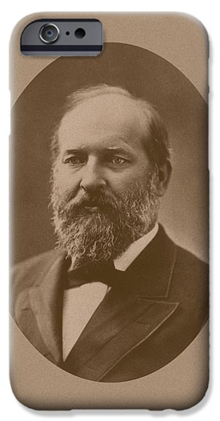 President iPhone Cases - President James Garfield iPhone Case by War Is Hell Store