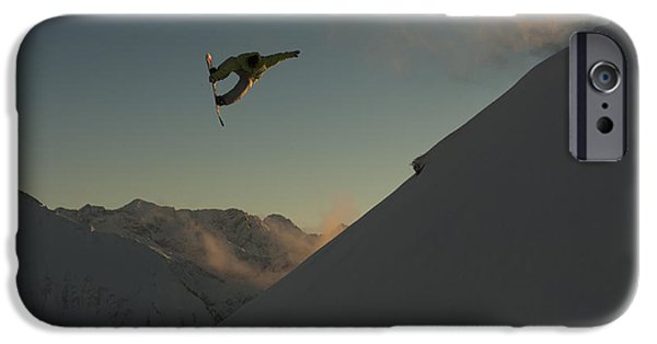 Weekend Activities iPhone Cases - Professional Snowboarder, Frederik iPhone Case by Dean Blotto Gray