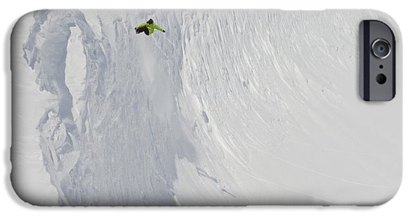 Weekend Activities iPhone Cases - Professional Snowboarder, Kevin Pearce iPhone Case by Dean Blotto Gray