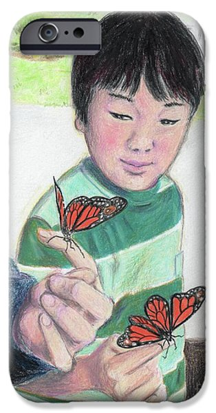 Support Drawings iPhone Cases - Ready to Fly iPhone Case by Yoshiko Mishina