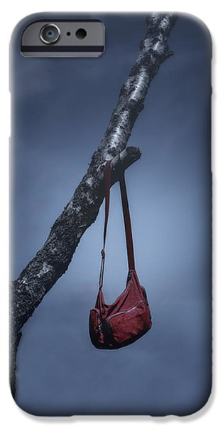 Bag iPhone Cases - Red Bag iPhone Case by Joana Kruse