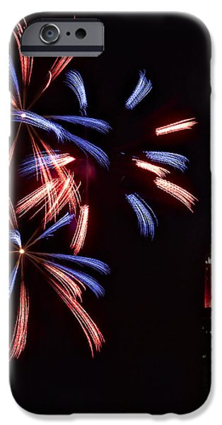 Red White and Blue iPhone Case by Susan Candelario