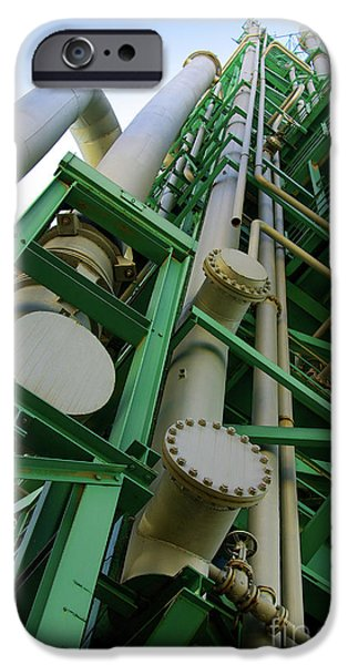 Refinery Detail iPhone Case by Carlos Caetano