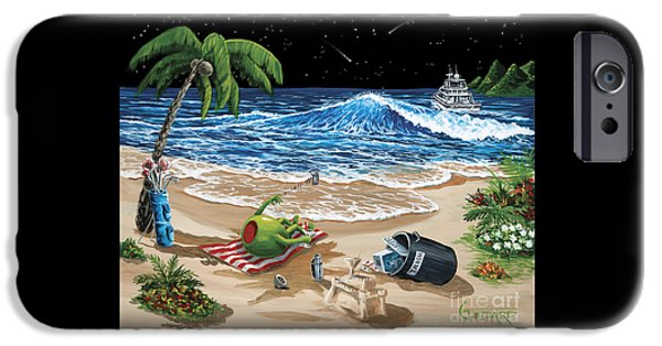 Sand Castles iPhone Cases - Rehab iPhone Case by Michael Godard
