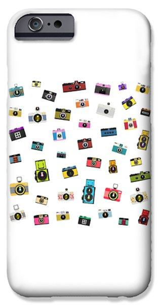 Aperture iPhone Cases - Retro Camera iPhone Case by Setsiri Silapasuwanchai