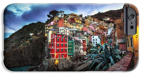 Town iPhone Cases - Riomaggiore iPhone Case by Insung Choi