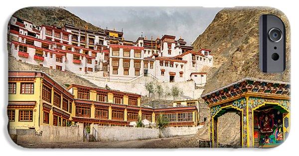Tibetan Buddhism iPhone Cases - Rizong monastery Ladakh Jammu and Kashmir India iPhone Case by Rudra Narayan  Mitra