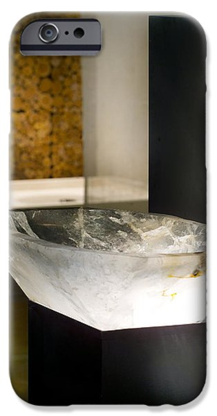 Designs Ceramics iPhone Cases - Rock Crystal Washbasin iPhone Case by Piotr Marek