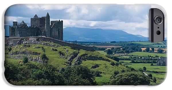 Colour Image iPhone Cases - Rock Of Cashel, Co Tipperary, Ireland iPhone Case by The Irish Image Collection