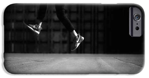 Tennis Shoes iPhone Cases - Rooftop Leap iPhone Case by Redd Angelo