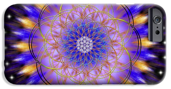 Flower Of Life iPhone Cases - Sacred Geometry 453 iPhone Case by Endre Balogh