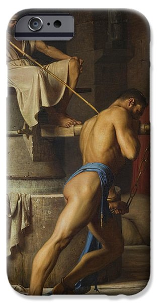 Homo-erotic iPhone Cases - Samson and the Philistines iPhone Case by Carl Bloch