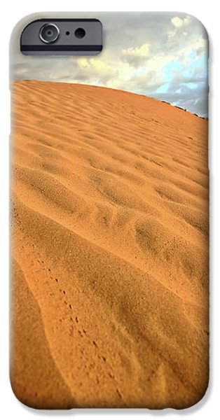 Sand dune at Great Sand Hills in scenic Saskatchewan iPhone Case by Mark Duffy