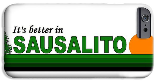 Sausalito Digital iPhone Cases - Sausalito California iPhone Case by Brian