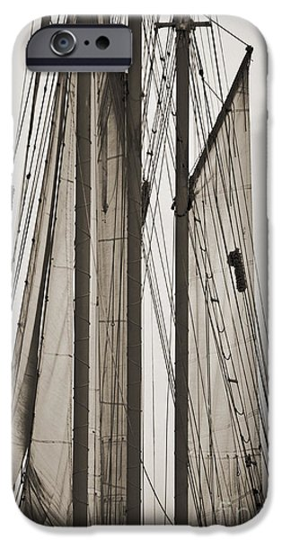 Tall Ship Digital iPhone Cases - Schooner Pride Tall Ship Charleston SC iPhone Case by Dustin K Ryan