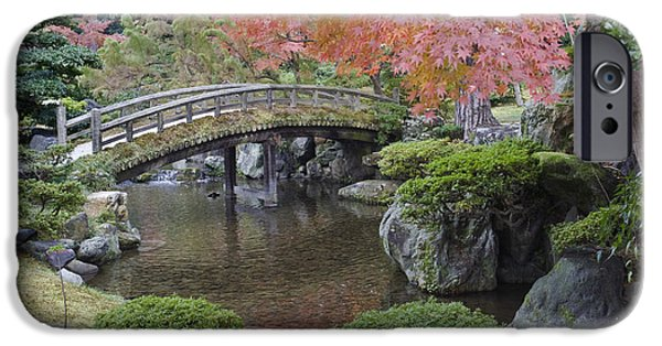 Man Made Space iPhone Cases - Sento Imperial Palace Gardens Lake iPhone Case by Rob Tilley