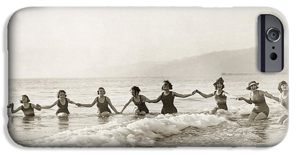 Bathing Photographs iPhone Cases - Silent Film Still: Bathers iPhone Case by Granger