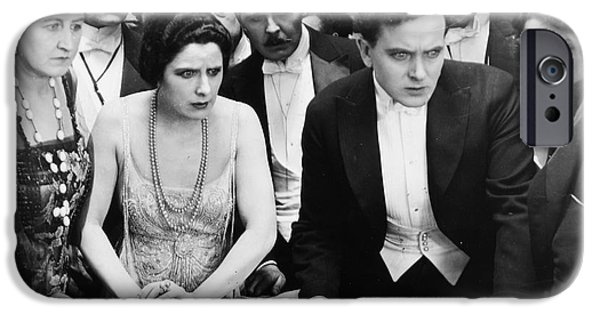 Chip iPhone Cases - Silent Film Still: Gambling iPhone Case by Granger