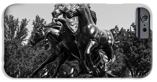 Buildings Sculptures iPhone Cases - SMU Mustangs iPhone Case by Mountain Dreams