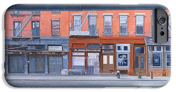 Store Fronts Paintings iPhone Cases - South Street iPhone Case by Anthony Butera