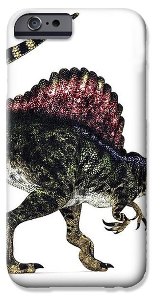 Spinosaurus Dinosaur, Artwork iPhone Case by Animate4.comscience Photo Libary