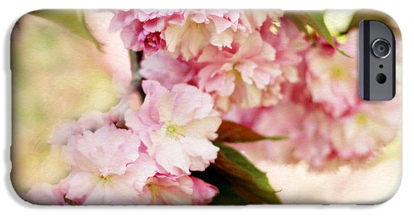 Cherry Blossoms Digital iPhone Cases - Spring Cherry   iPhone Case by Jessica Jenney